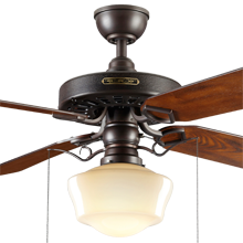 Heron Ceiling Fan With Opal Ogee Shade Rejuvenation
