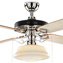 Heron Ceiling Fan With Low Profile Shade Rejuvenation