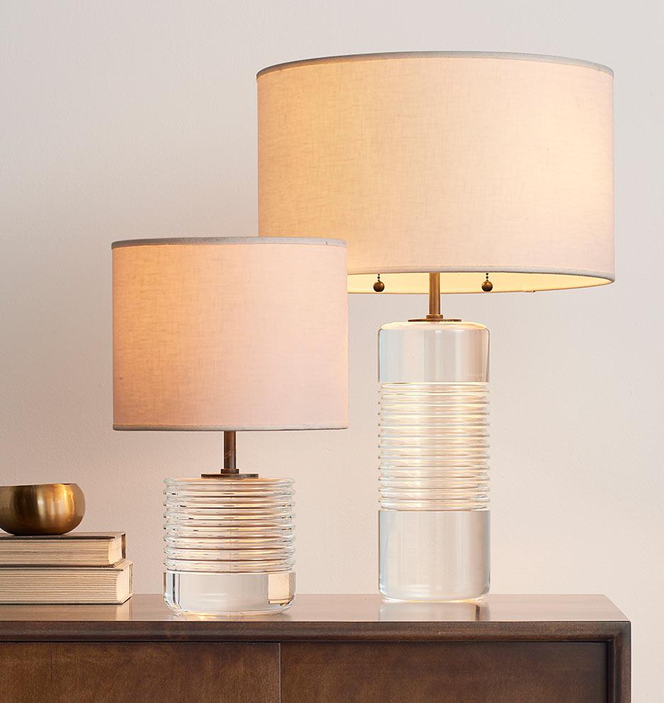 Small Cut Crystal Table Lamp Rejuvenation