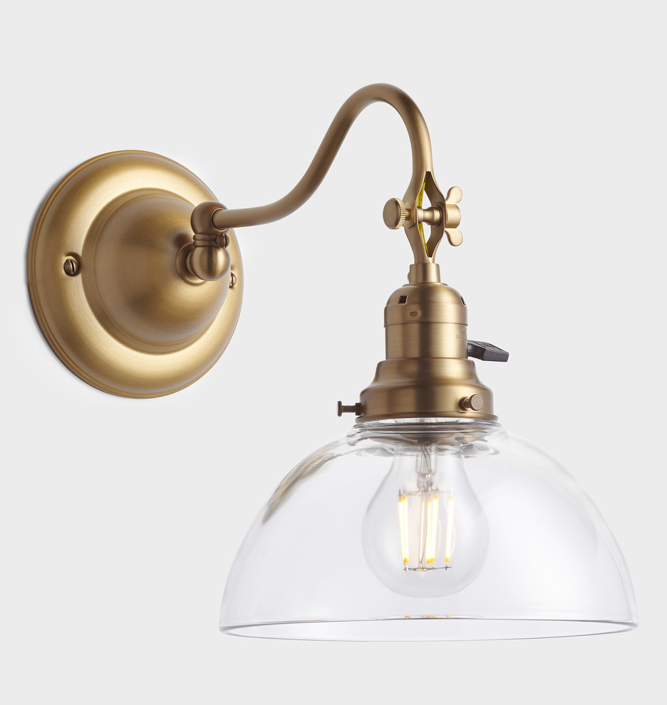Fords mill 2 1 4 fitter single swing arm sconce