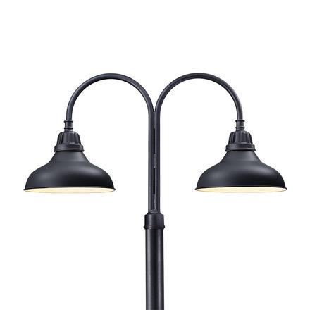 Carson warehouse lighting rejuvenation carson double shepherds hook led post light aloadofball Gallery