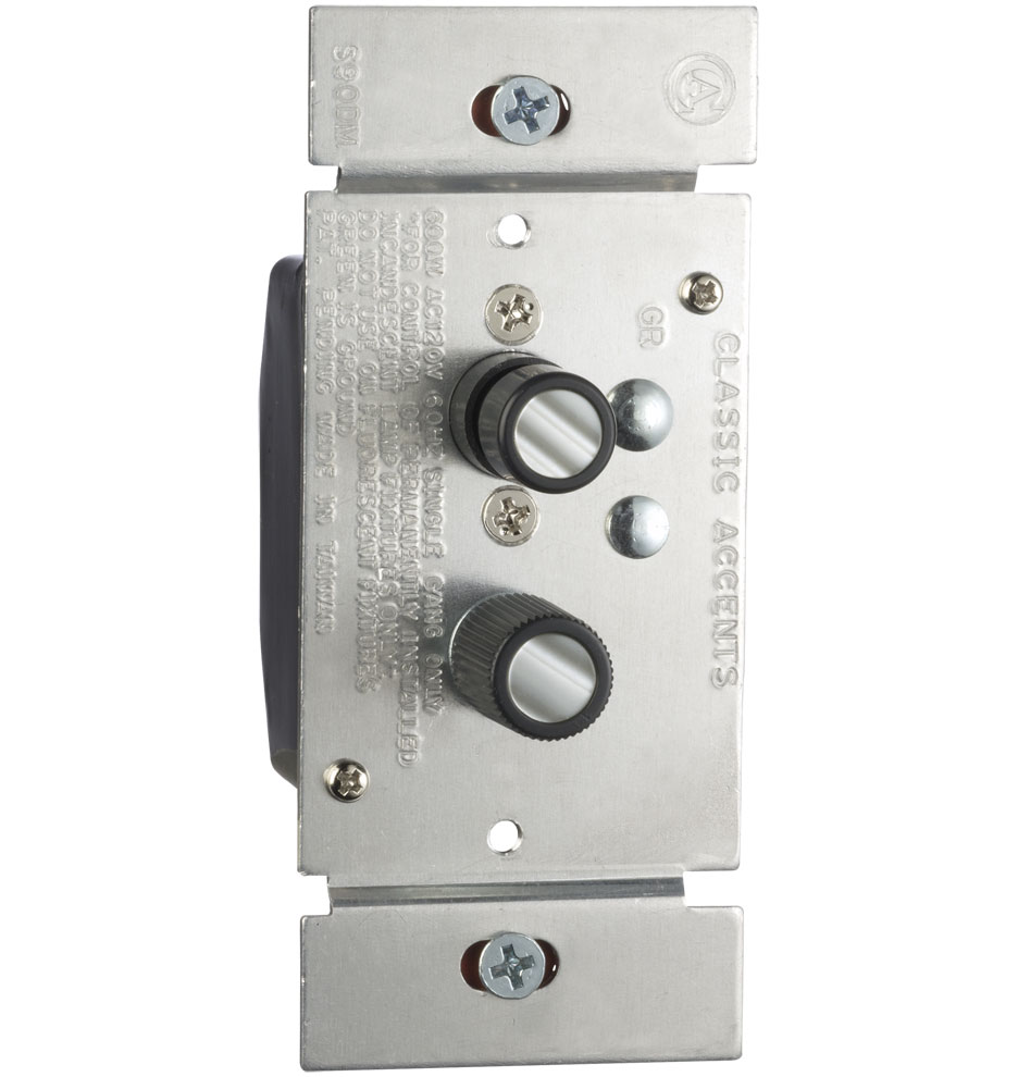 Trimmed Push Button Dimmer Switch Rejuvenation