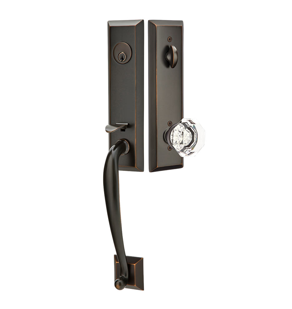 Adams Exterior Tubelatch Door Set With Old Town Knob Rejuvenation