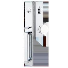... Polished Chrome; Satin Nickel. Lausanne Exterior Tubelatch Door Set  With Round Knob