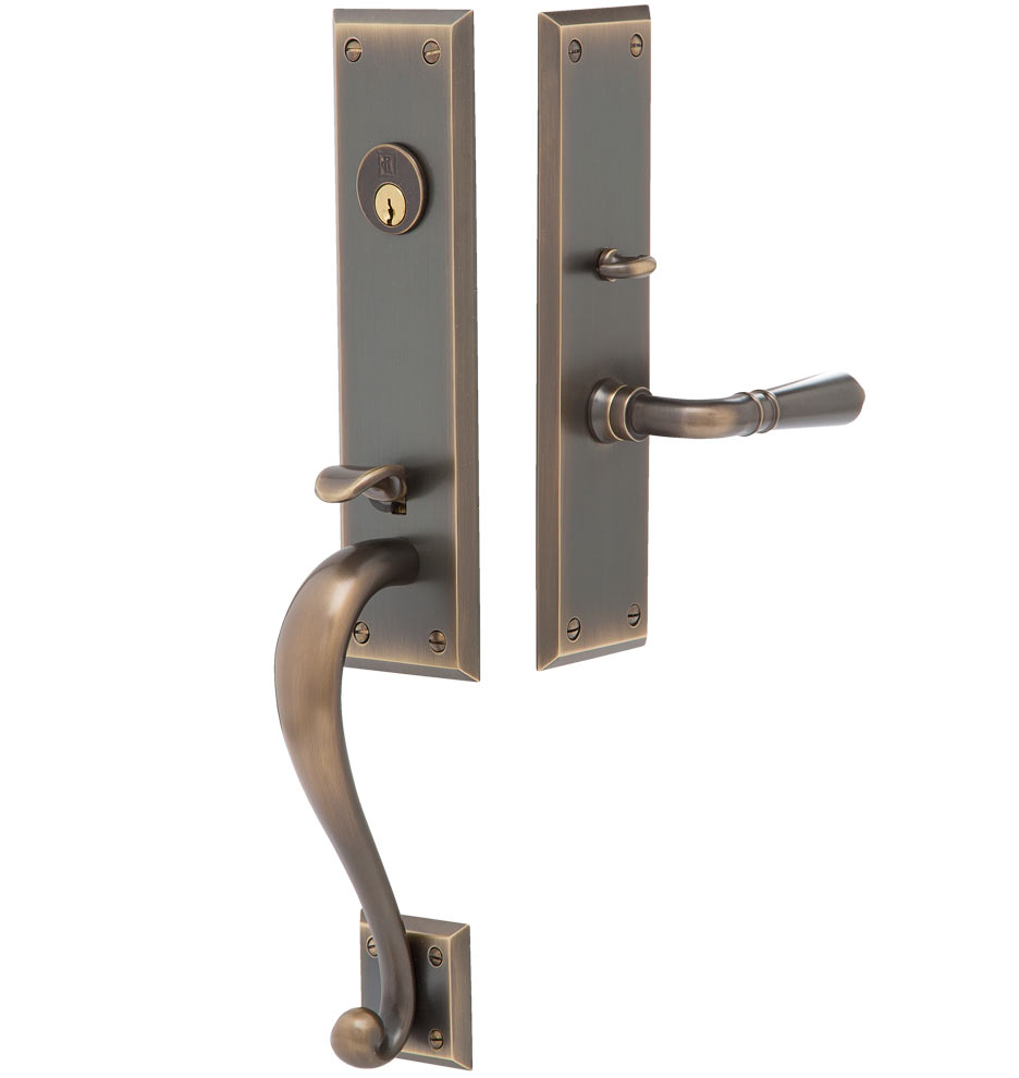 Front Door Accessories: Putman Traditional Lever Exterior Door Hardware Mortise