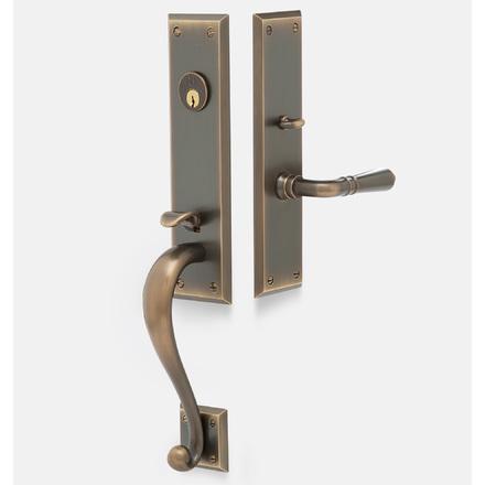 Front Door Handles >> Putman Traditional Lever Exterior Door Hardware Mortise Set