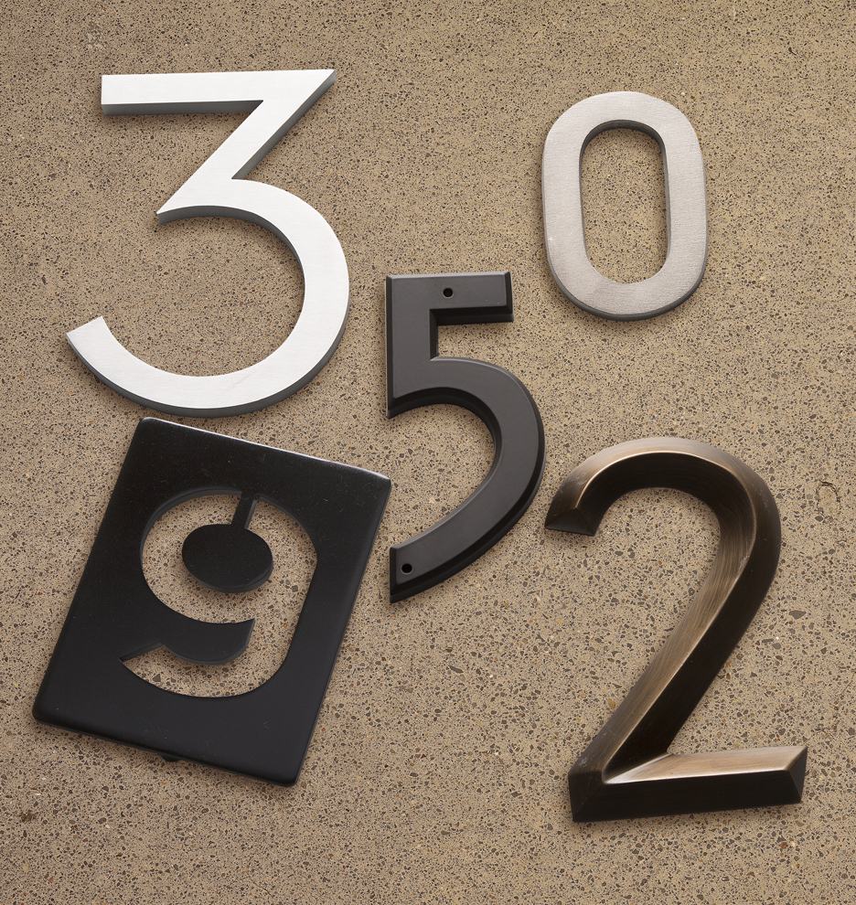 PinMount Metal House Numbers Rejuvenation - Cheap metal house numbers