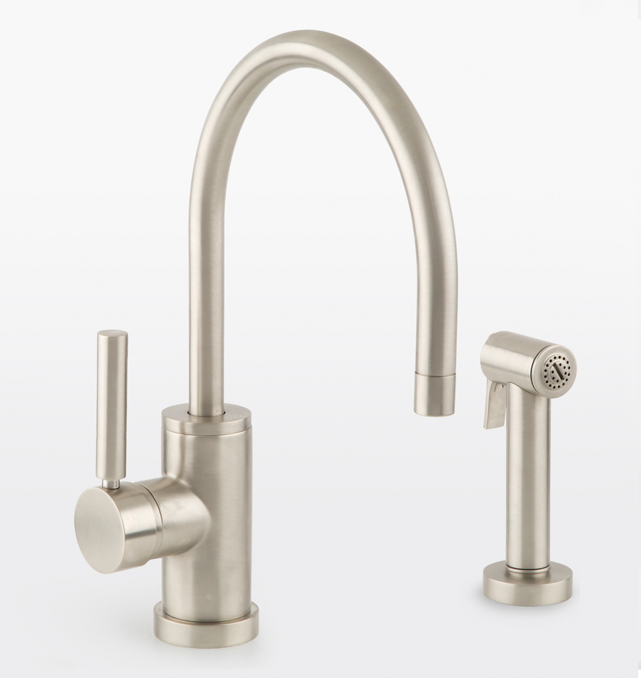 Coos Bay Single Hole Kitchen Faucet with Sprayer