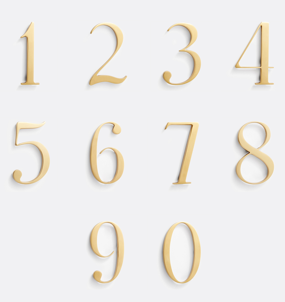 6 Traditional House Numbers Rejuvenation