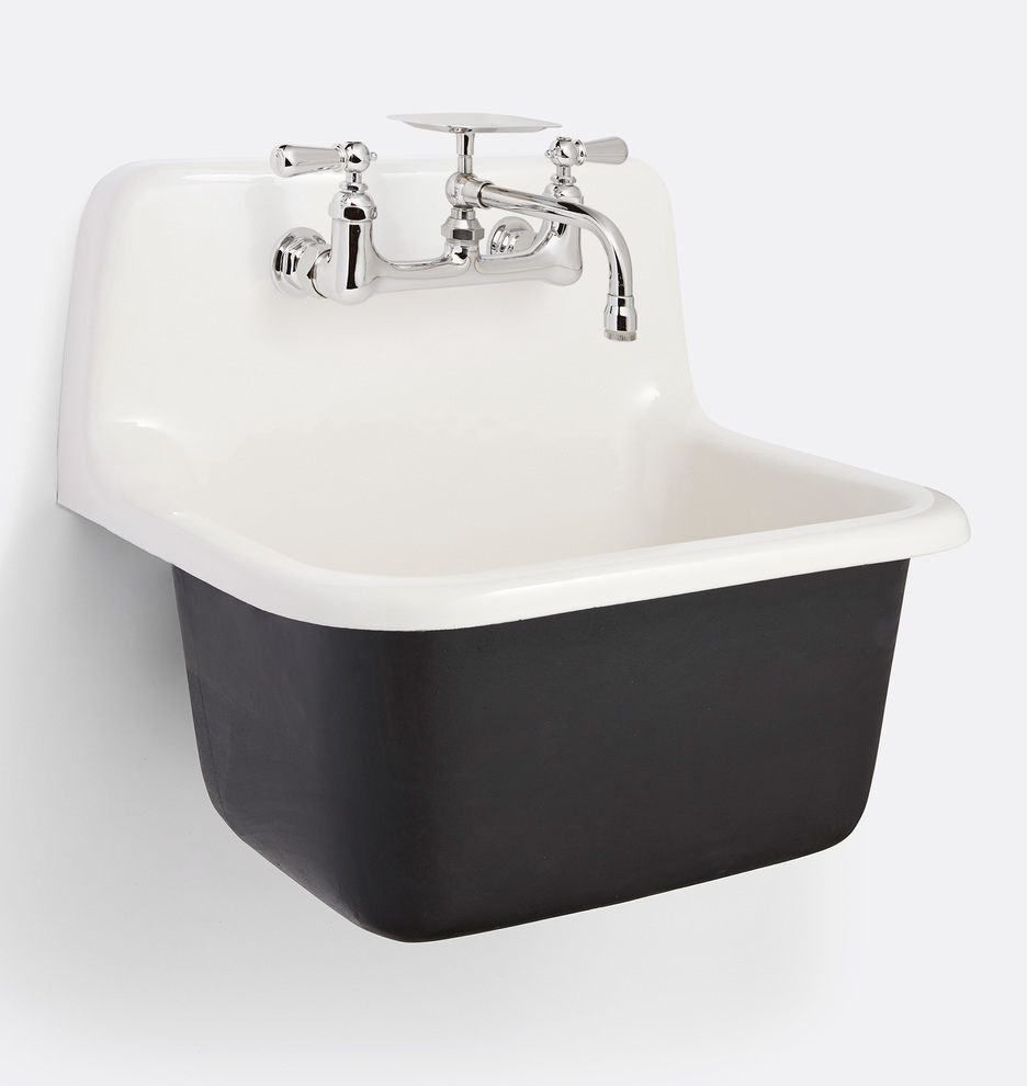 Grizzly Cast Iron Utility Sink With Drain Rejuvenation
