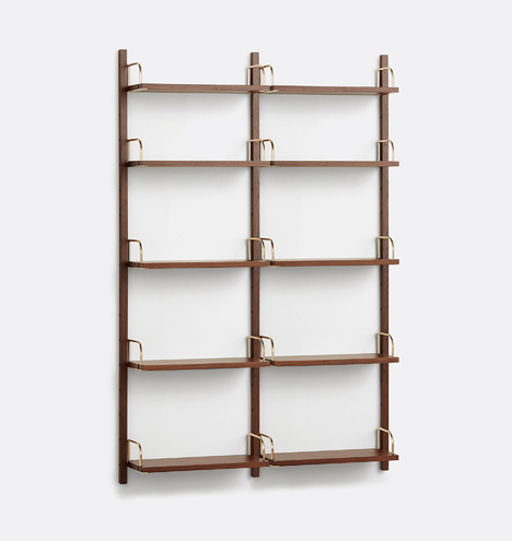 Hart Modular Walnut Shelving Unit Set Of 2 Rejuvenation