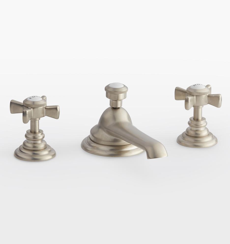 rollins cross handle widespread bathroom faucet