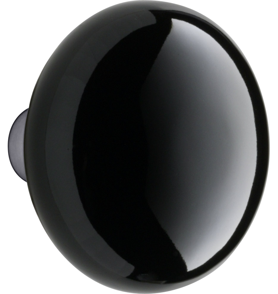 Black Porcelain Door Knob   Rejuvenation