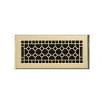 4x10 Cast Brass Heat Register
