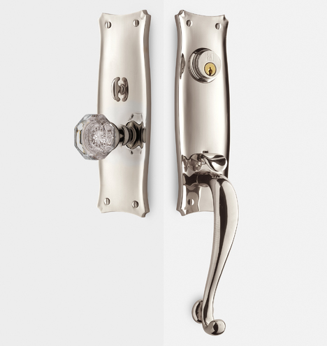 Templeton Octagonal Crystal Knob Exterior Door Hardware
