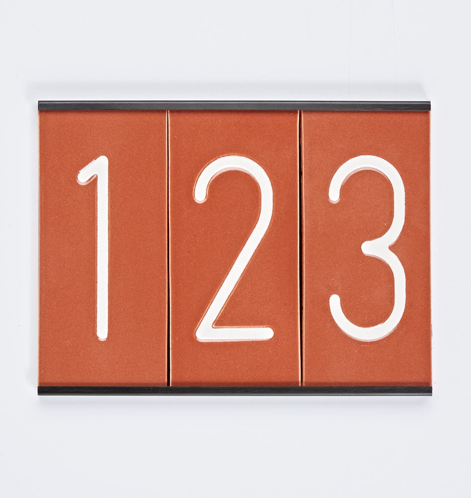 7 14 modern ceramic house numbers rejuvenation ceramic house numbers ships free c2039 080515 rust 02 c2039 dailygadgetfo Image collections