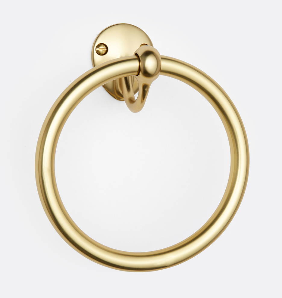Linfield Towel Ring Aged Brass Rejuvenation