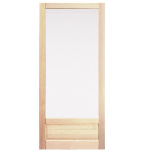 Fir Storm Door With Low Single Panel Rejuvenation