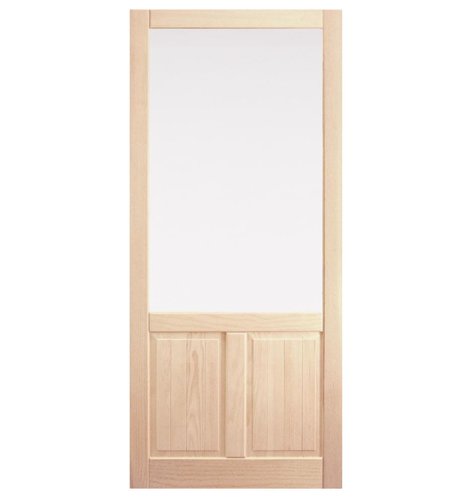 Fir Storm Door With Double Panel Bottom Rejuvenation