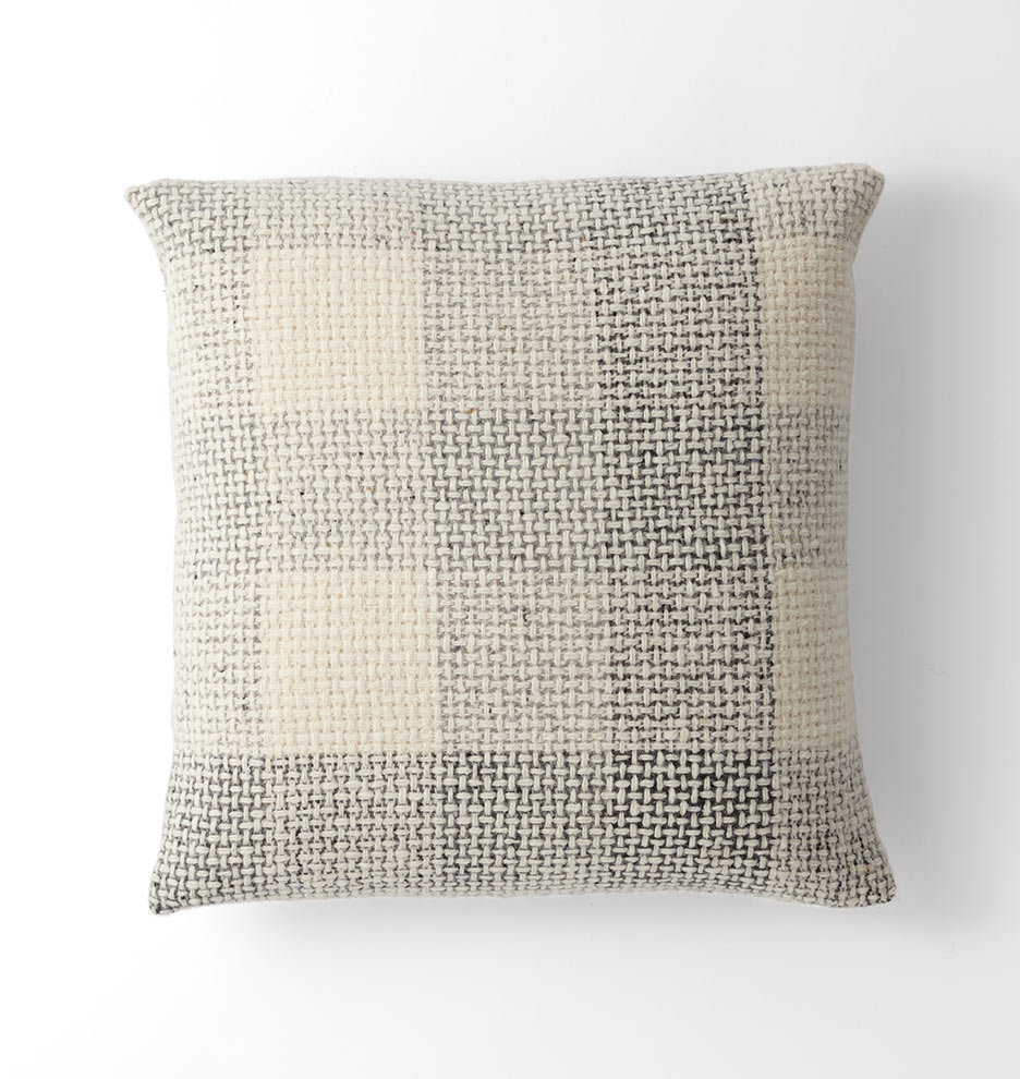 Wool Plaid Tweed Pillow Cover - Gray | Rejuvenation
