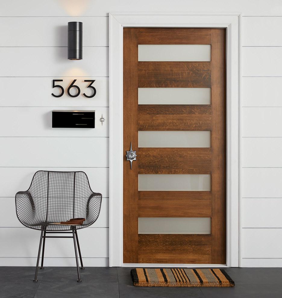 Titan Narrow Mid Century Knob Exterior Door Hardware Tube Latch Set Rejuvenation