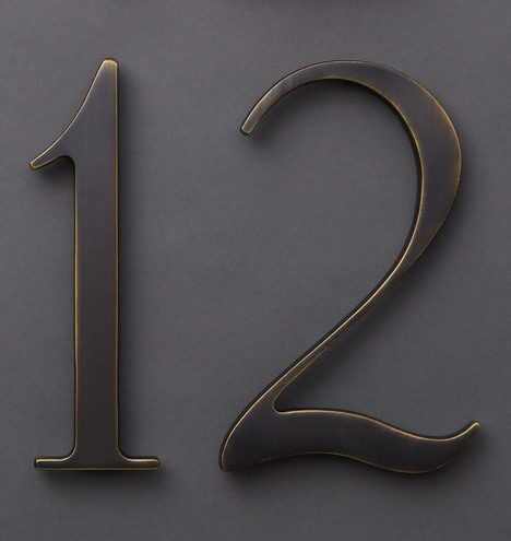 House Numbers Rejuvenation - Cheap metal house numbers
