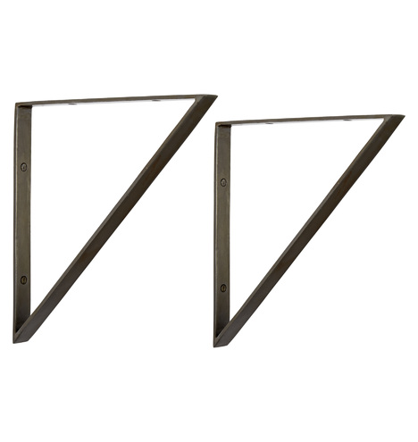 10 Quot Triangle Shelf Brackets Rejuvenation