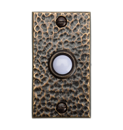 Hammered Brass Doorbell Button Rejuvenation