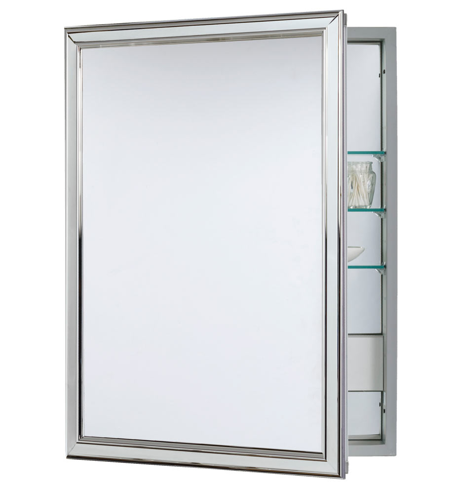 Merveilleux Classic Framed Medicine Cabinet With Outlet   Semi Recessed | Rejuvenation
