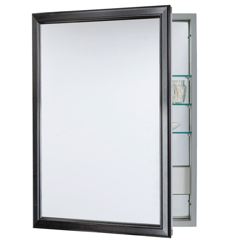 Classic Framed Medicine Cabinet With Outlet