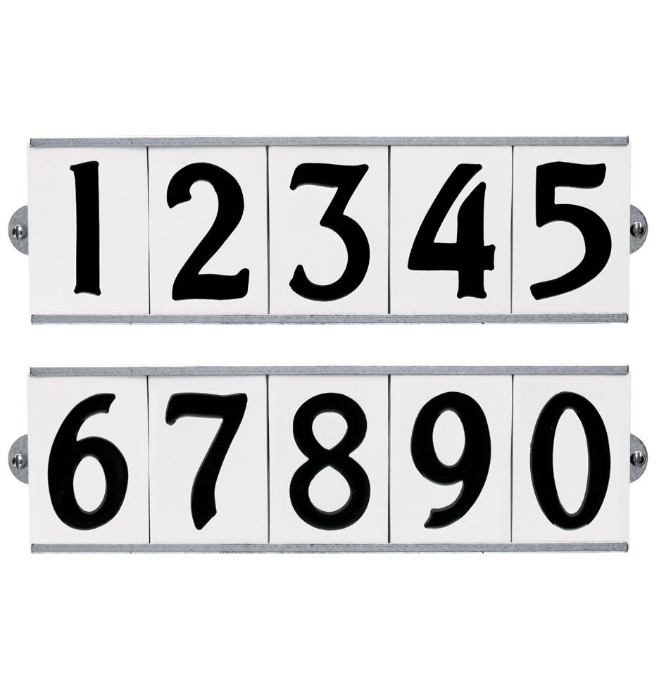 3 Quot Porcelain Tile House Number Set Rejuvenation
