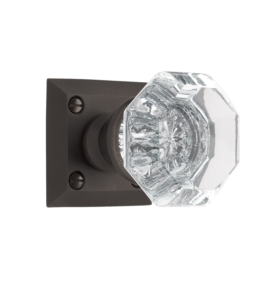 Coleman Octagonal Crystal Knob Interior Door Set | Rejuvenation