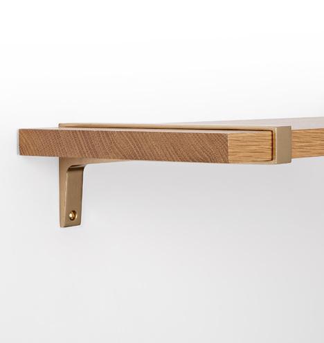 10 strap brackets shelf set