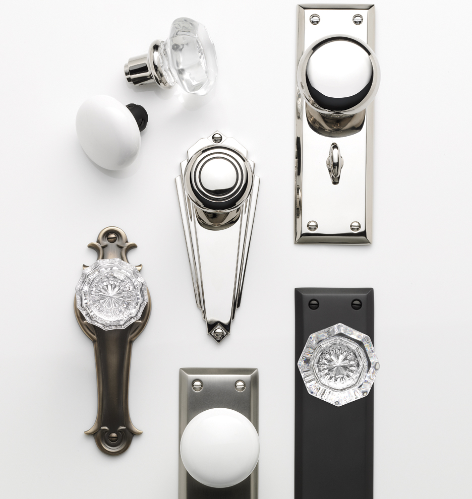 Putman Octagonal Crystal Knob Interior Door Set | Rejuvenation