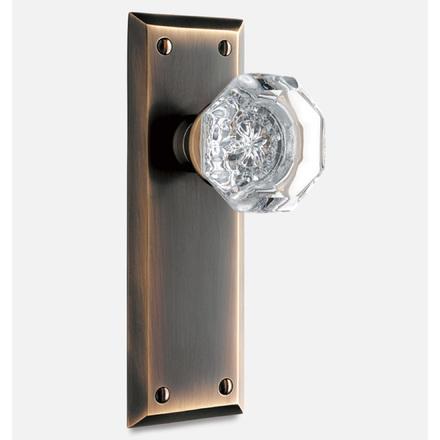 Putman Octagonal Crystal Interior Door Knob Set & Interior Door Knobs | Rejuvenation