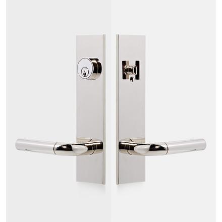 Tumalo Brass Lever Exterior Door Hardware Tube Latch Set