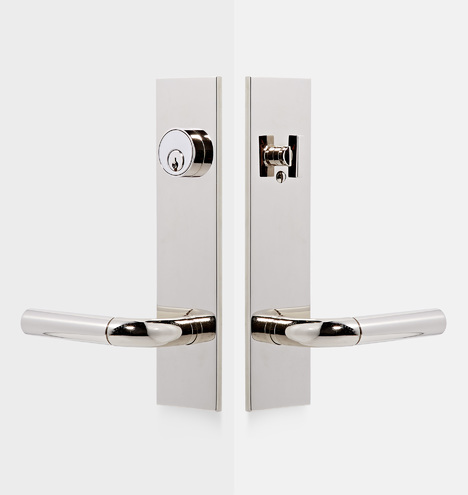 Tumalo Brass Lever Exterior Door Hardware Tube Latch Set