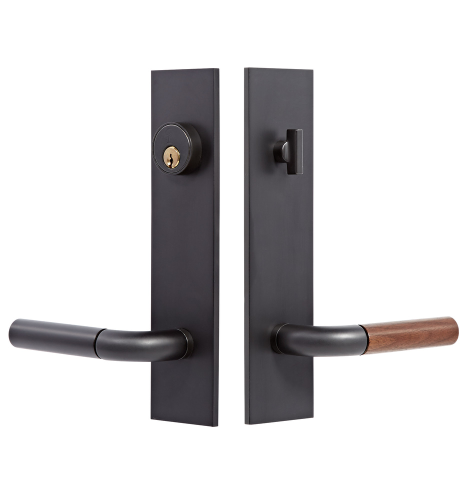 Tumalo Walnut Lever Exterior Door Set | Rejuvenation