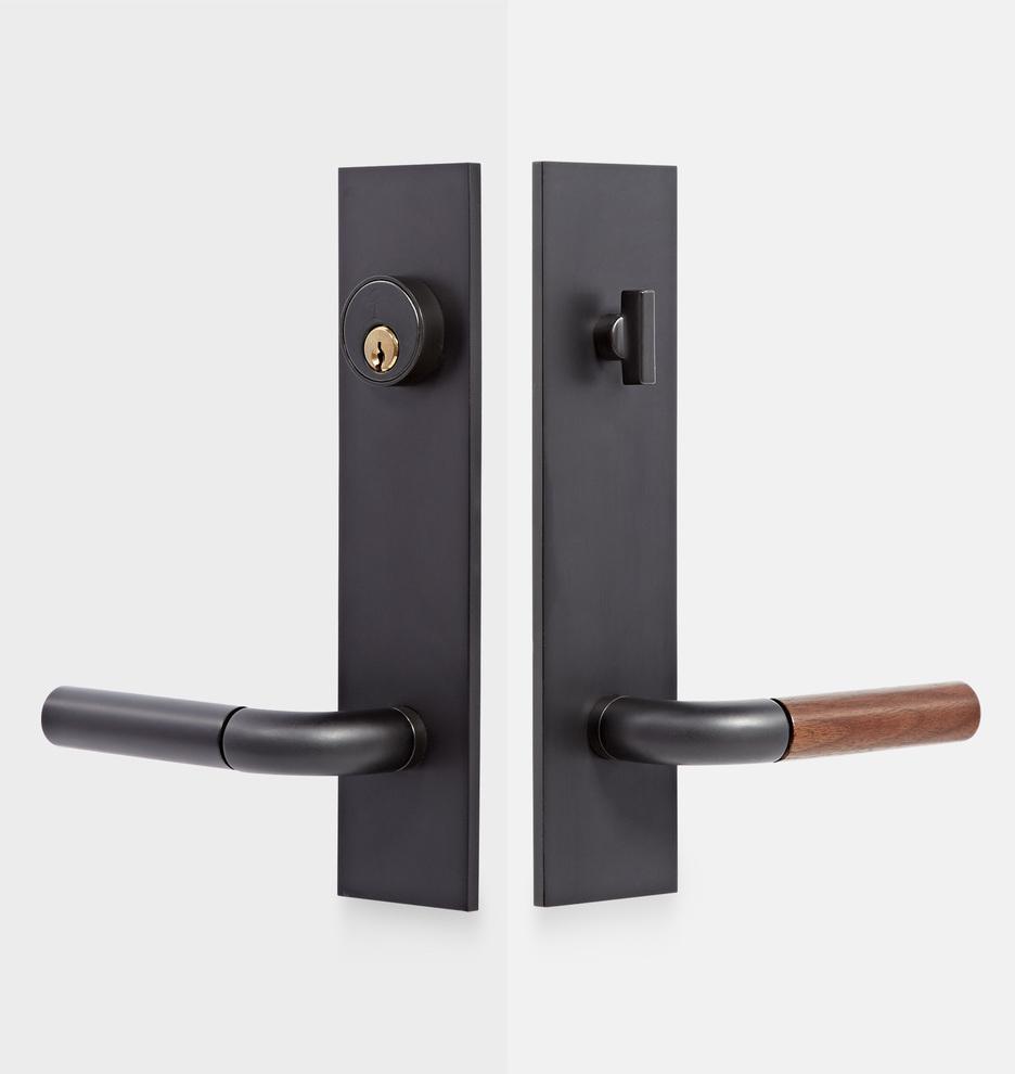 Front Door Handles >> Tumalo Walnut Lever Exterior Door Hardware Tube Latch Set