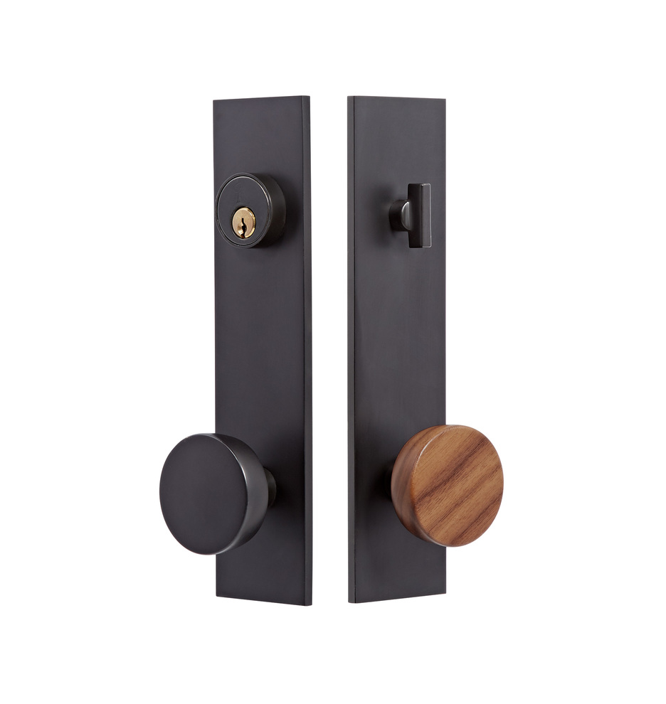Attractive Tumalo Walnut Knob Exterior Door Set