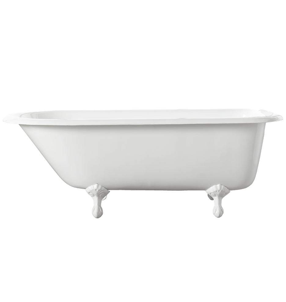 5-1/2\' Clawfoot Tub with White Exterior | Rejuvenation