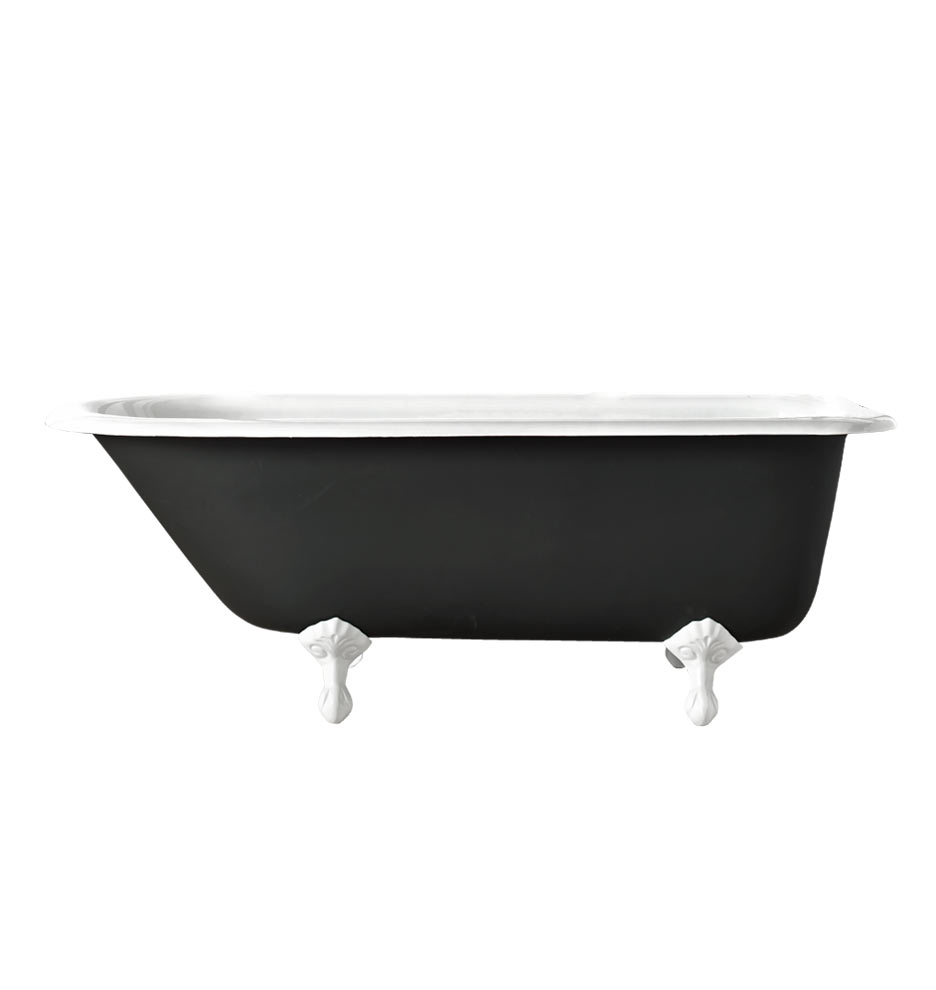 5\' Clawfoot Tub with White Exterior | Rejuvenation