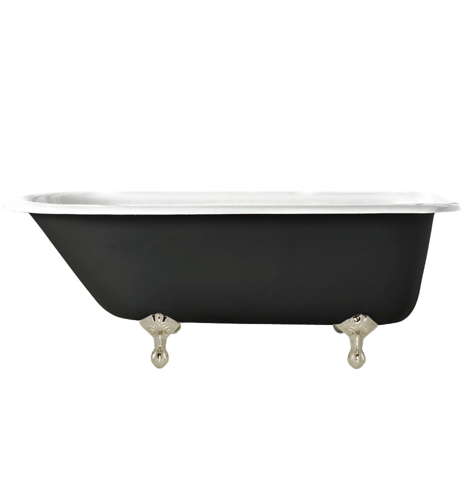 5-1/2\' Clawfoot Tub with Black Exterior | Rejuvenation
