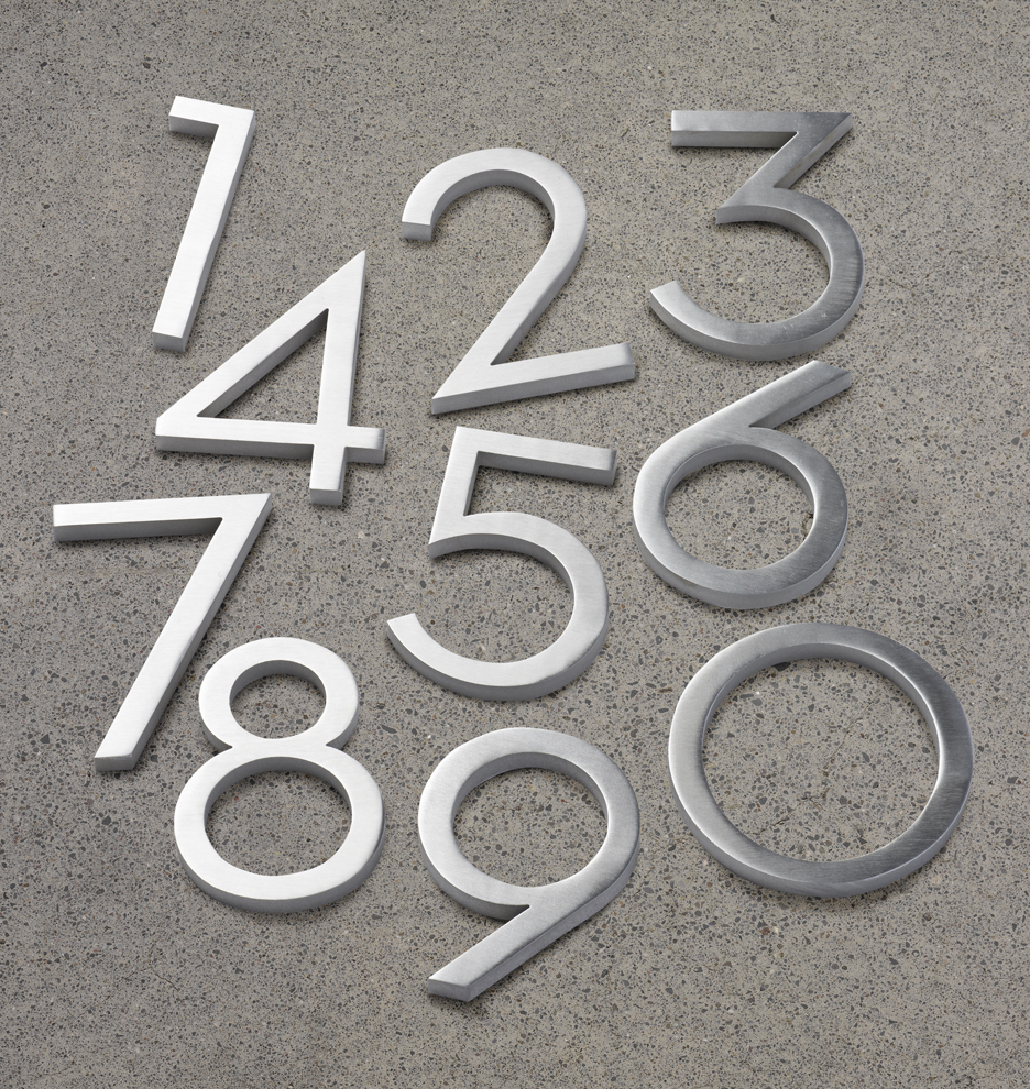 4 modern house numbers rejuvenation