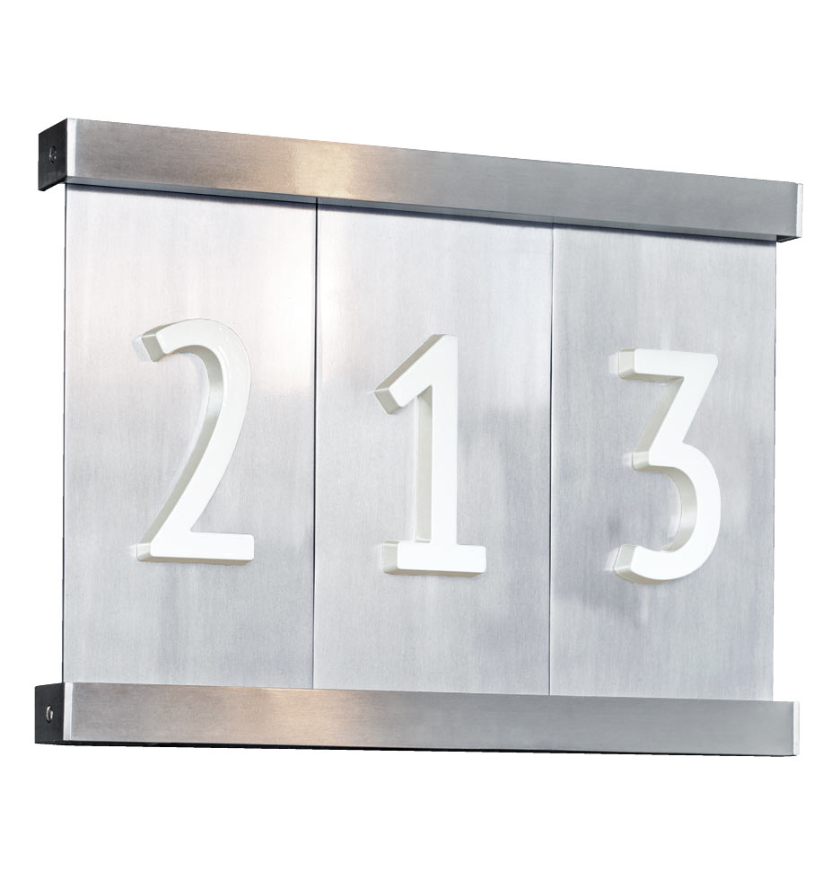 House numbers rejuvenation aluminum tile house numbers dailygadgetfo Images