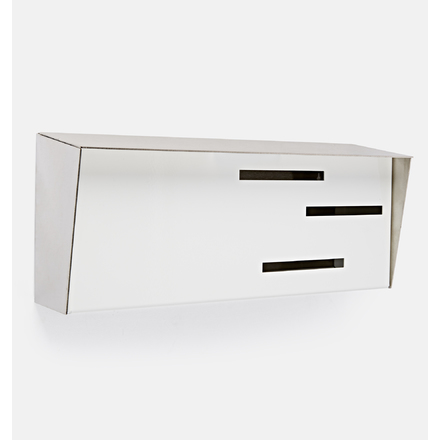 Wall Mount Mailboxes Tools Home Improvement Modern Mailbox Monochromatic Mid Century Modern Mailbox Modern Wall Mounted Mailbox Black