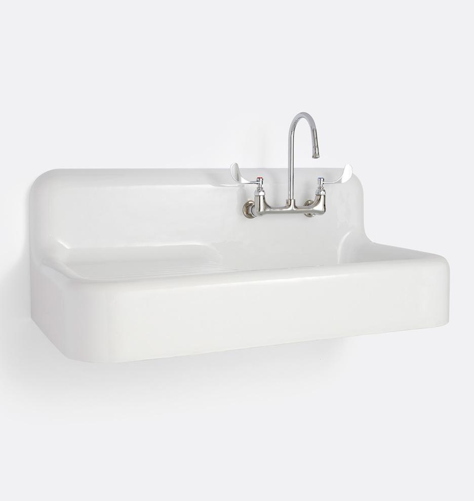 - Atlas Farmhouse Sink With Drain Board Rejuvenation