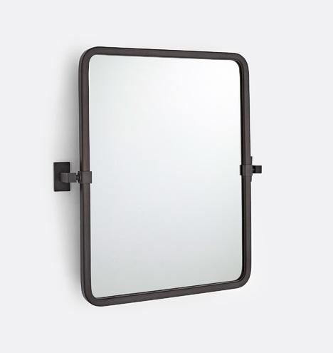 Yaquina Rounded Rectangle Pivot Mirror Rejuvenation
