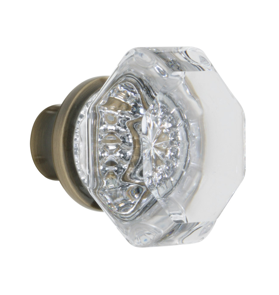 Octagon Crystal Door Knob | Rejuvenation
