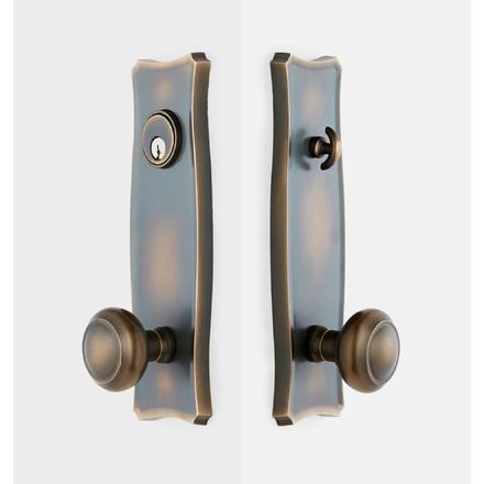 Templeton Domed Knob / Knob Exterior Door Hardware Tube Latch Set